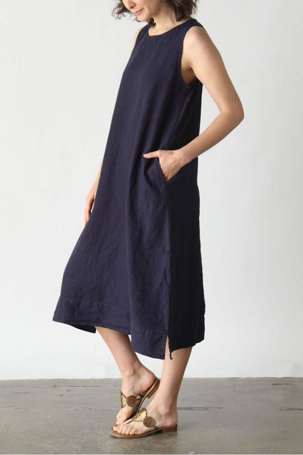 Cut Loose Easy Linen Dress From Hudson Valley By Maria Luisa Shoptiques