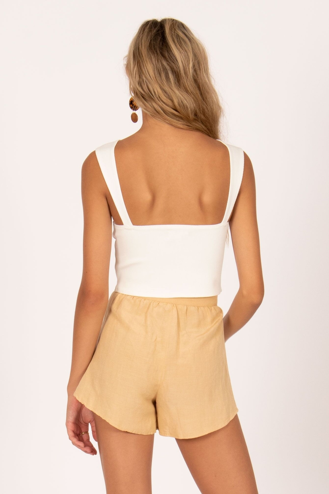 AMUSE SOCIETY Easy Love Crop Top - Front Full Image