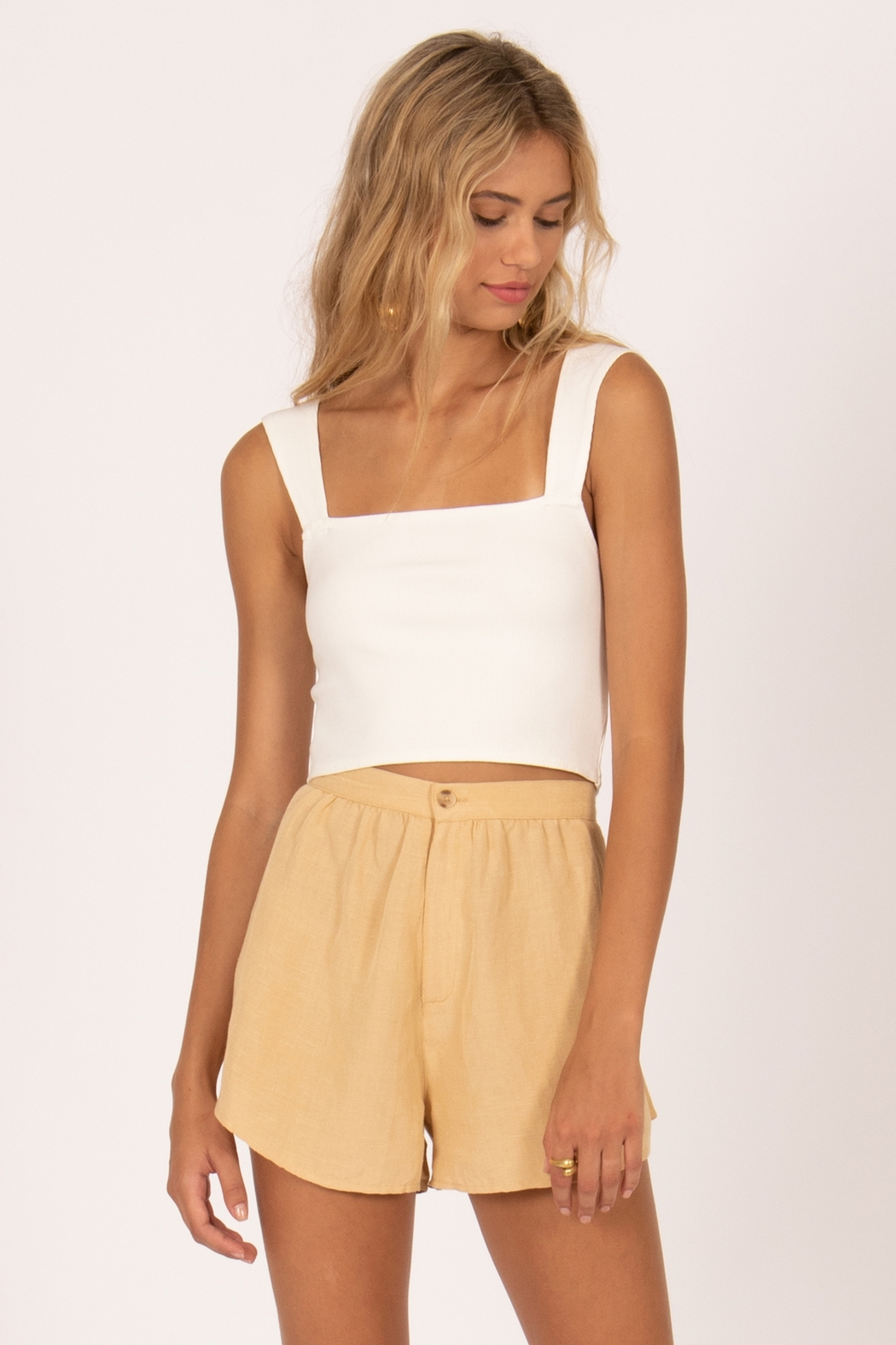 AMUSE SOCIETY Easy Love Crop Top - Front Cropped Image