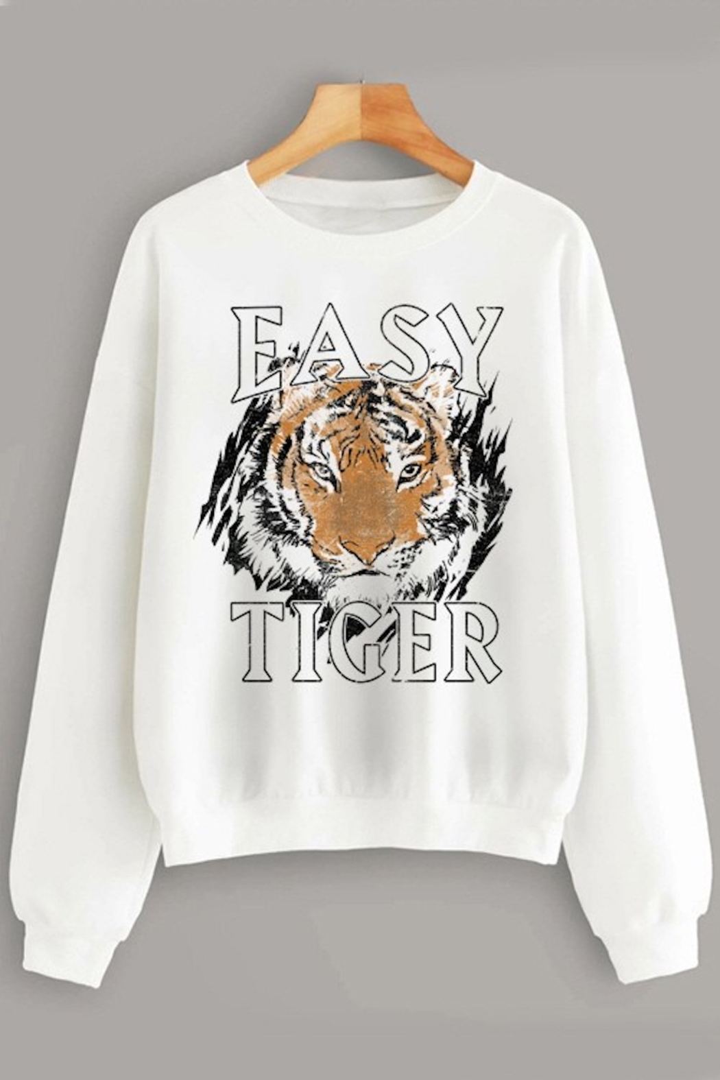 Trend Shop  Easy Tiger Sweatshirt - Front Cropped Image