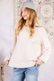 Very J Easy Waffle Knit Top - Product Mini Image