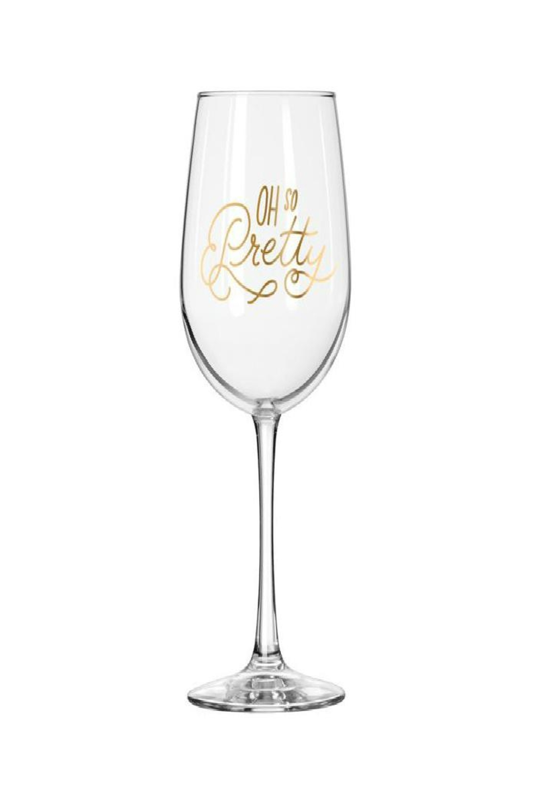 Easy Tiger So Pretty Wine Glass - Front Cropped Image