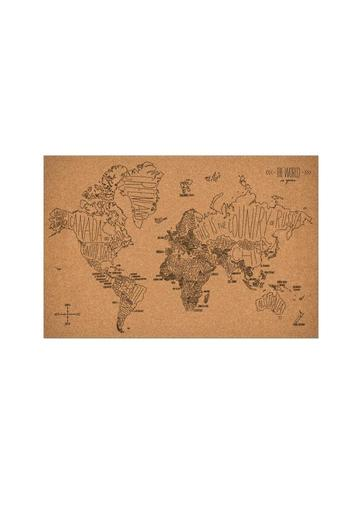 Easy Tiger World Map. World Map Corkboard Easy Tiger from Austin by Lost Pines Art
