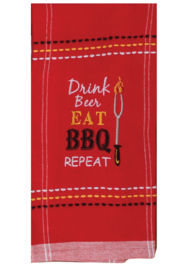 Kay Dee Designs Eat BBQ Dish Towel - Front cropped