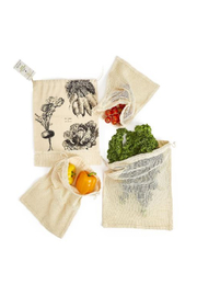 Two's Company Eat Clean & Go Green Set of 4 Reusable Produce Bags - Product Mini Image