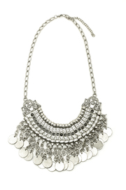 Island Imports Turkish Silver Necklace - Front cropped