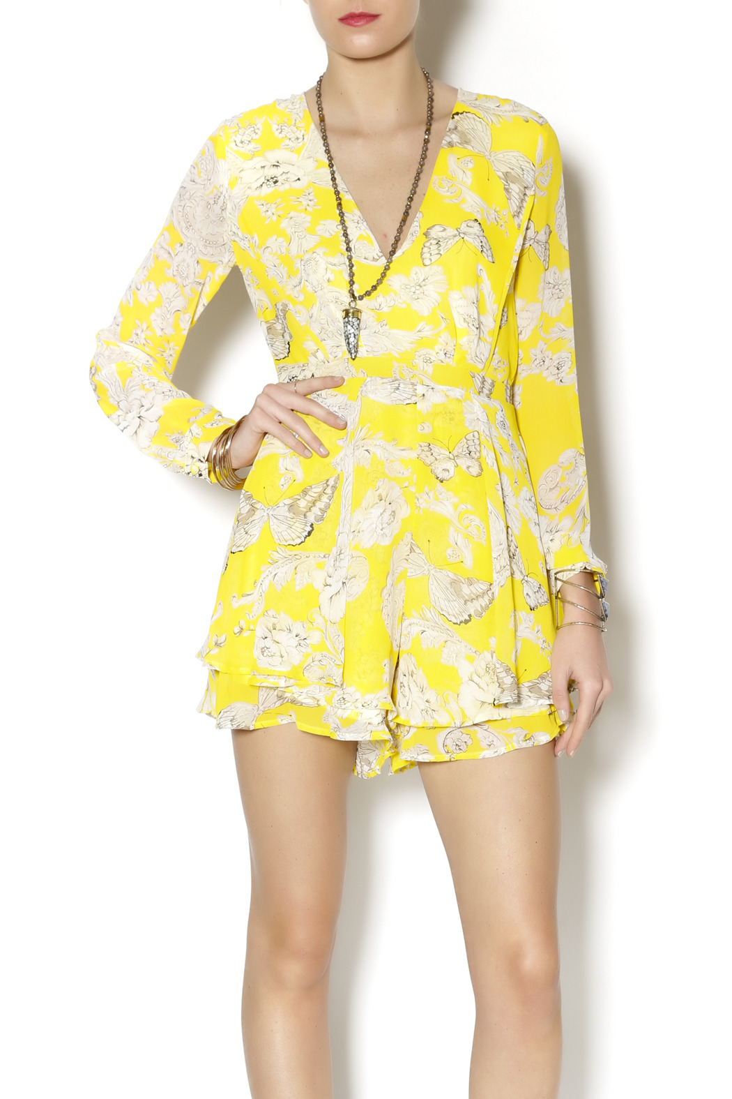 df039f0c2c Xtaren Yellow Butterfly Romper from New York by Dor L Dor — Shoptiques