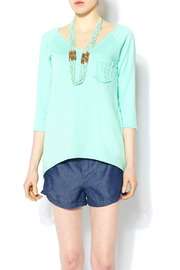 R Rouge Checkered Mint Top - Product Mini Image