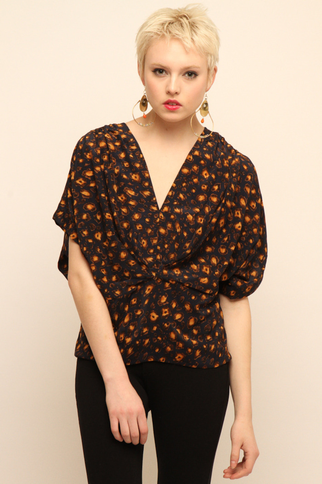 NU Cropped Blouse - Front Cropped Image
