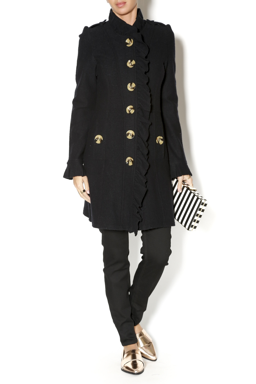 Luii Black Ruffle Jacket from Portland by Frock Boutique — Shoptiques