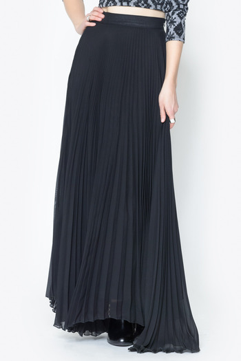 See You Monday Accordian Pleat Maxi Skirt - Main Image