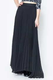 See You Monday Accordian Pleat Maxi Skirt - Front cropped