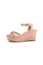 Qupid Ebbe Platgorm Wedge - Front cropped