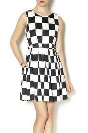 Esley Collection Large Check Dress - Product Mini Image