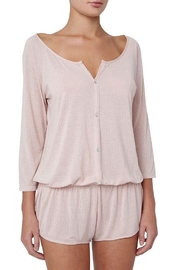 Eberjey Afternoon Teddy Romper - Front cropped