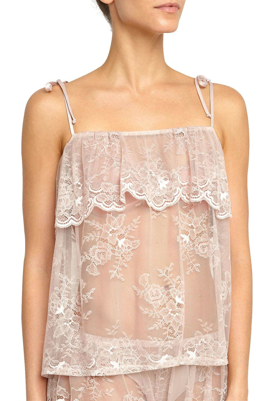 Eberjey Aurora Lace Cami - Front Cropped Image