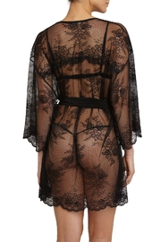 Eberjey Aurora Lace Robe - Front full body