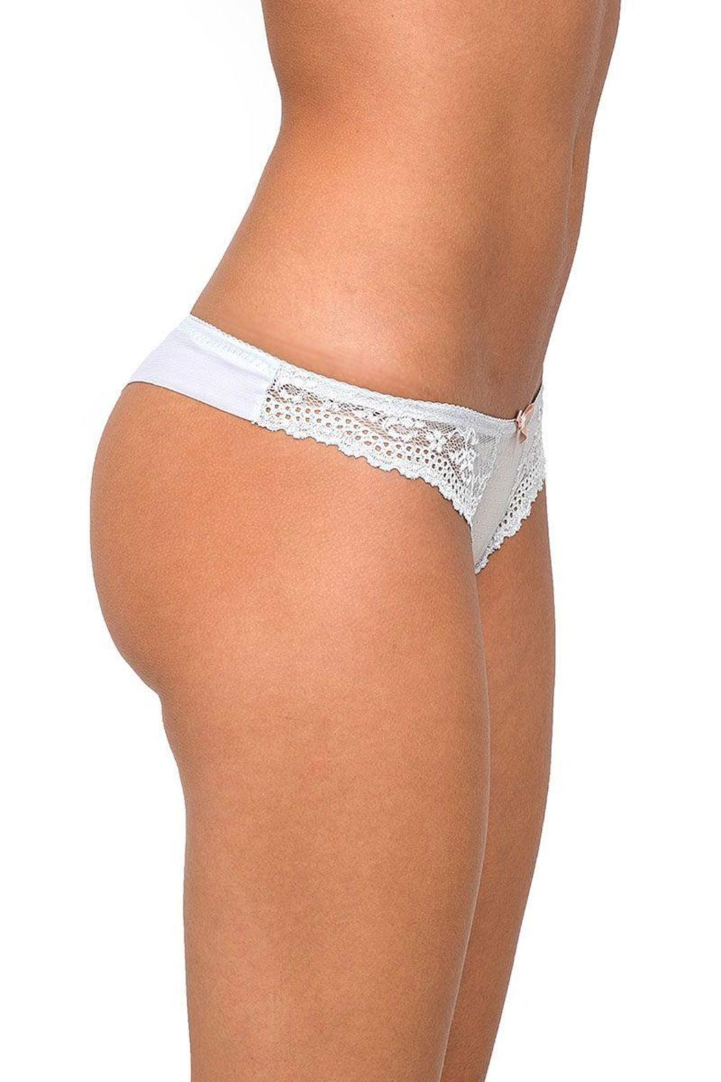 Eberjey Colette Lace Thong - Front Full Image