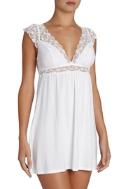 Eberjey Flutter Sleeve Chemise - Front cropped