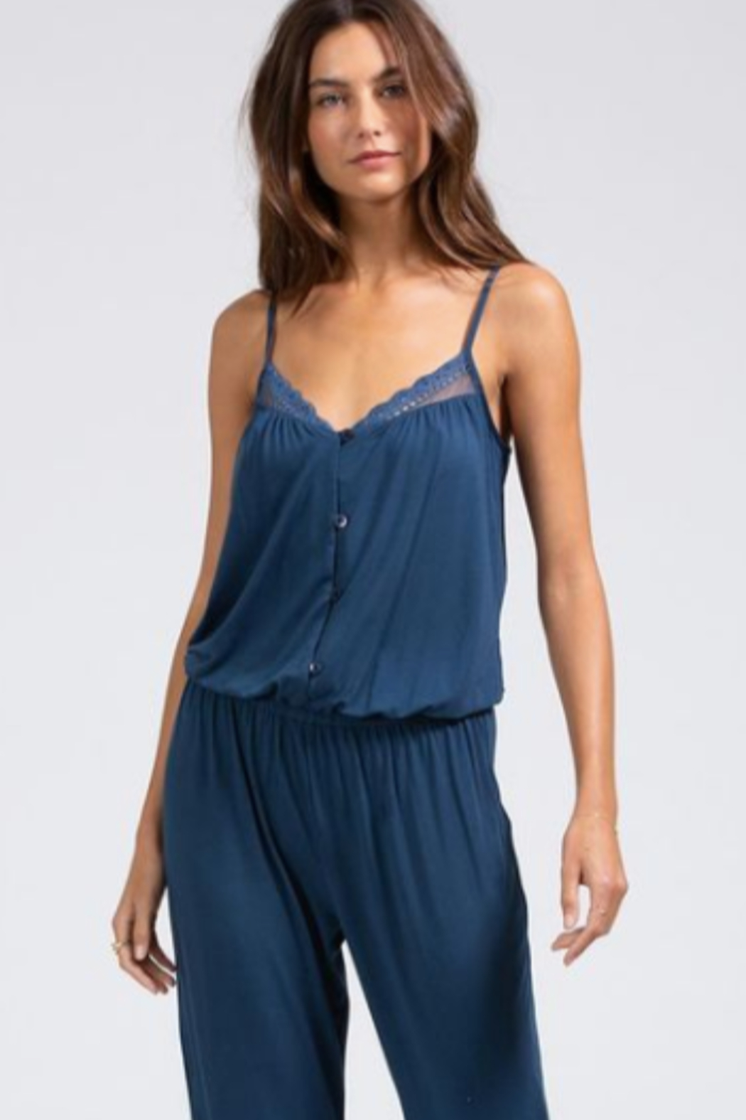 Eberjey Intimates Eberjey Lucie Button Down Jumpsuit - Main Image