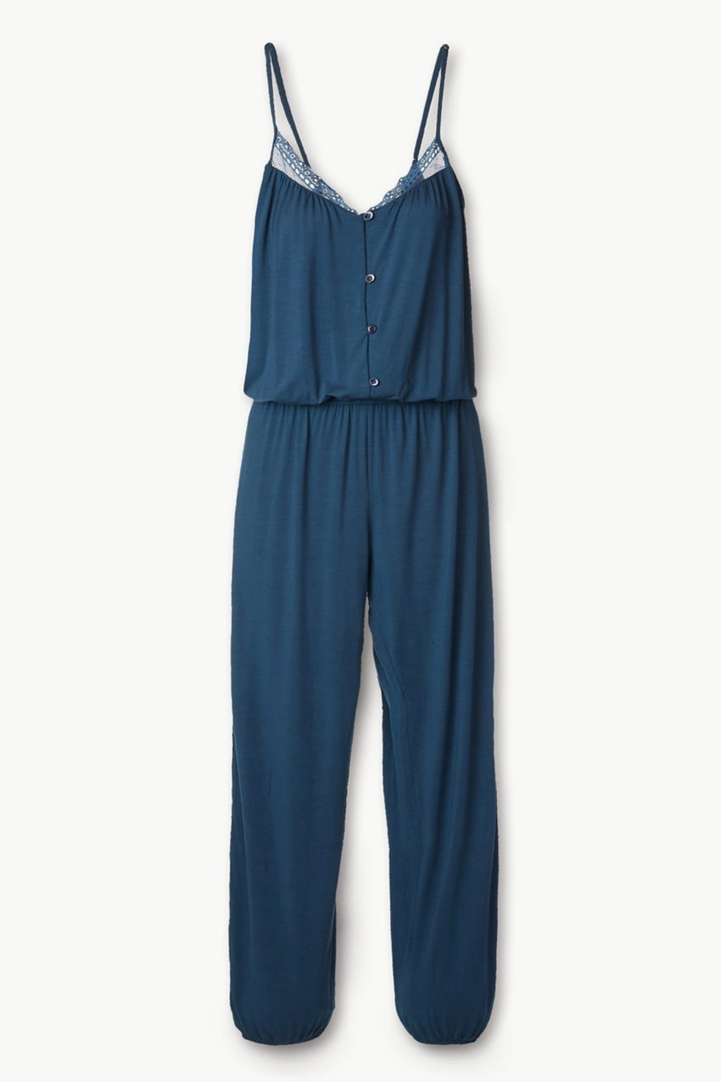 Eberjey Intimates Eberjey Lucie Button Down Jumpsuit - Side Cropped Image
