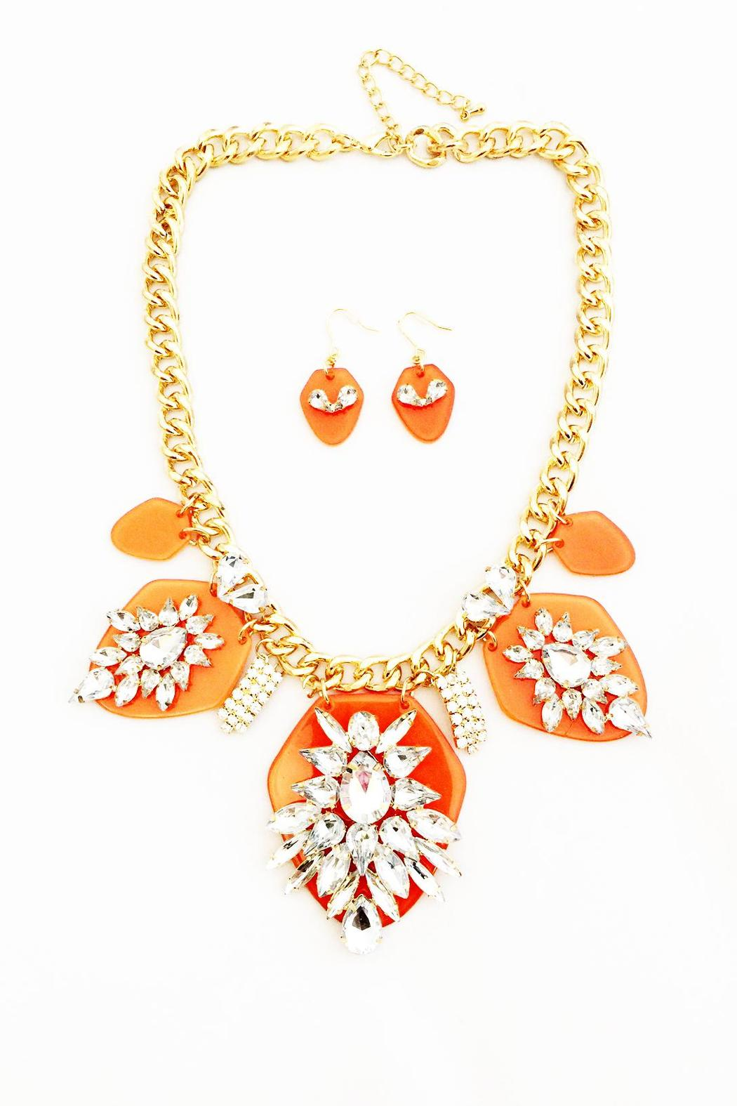 bling bling coral statement necklace from iowa