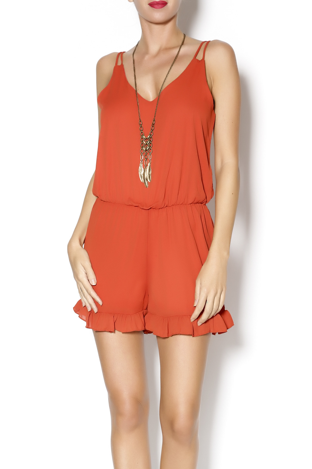 63370a8bdd3a Abby   Taylor Burnt Orange Romper from Florida — Shoptiques