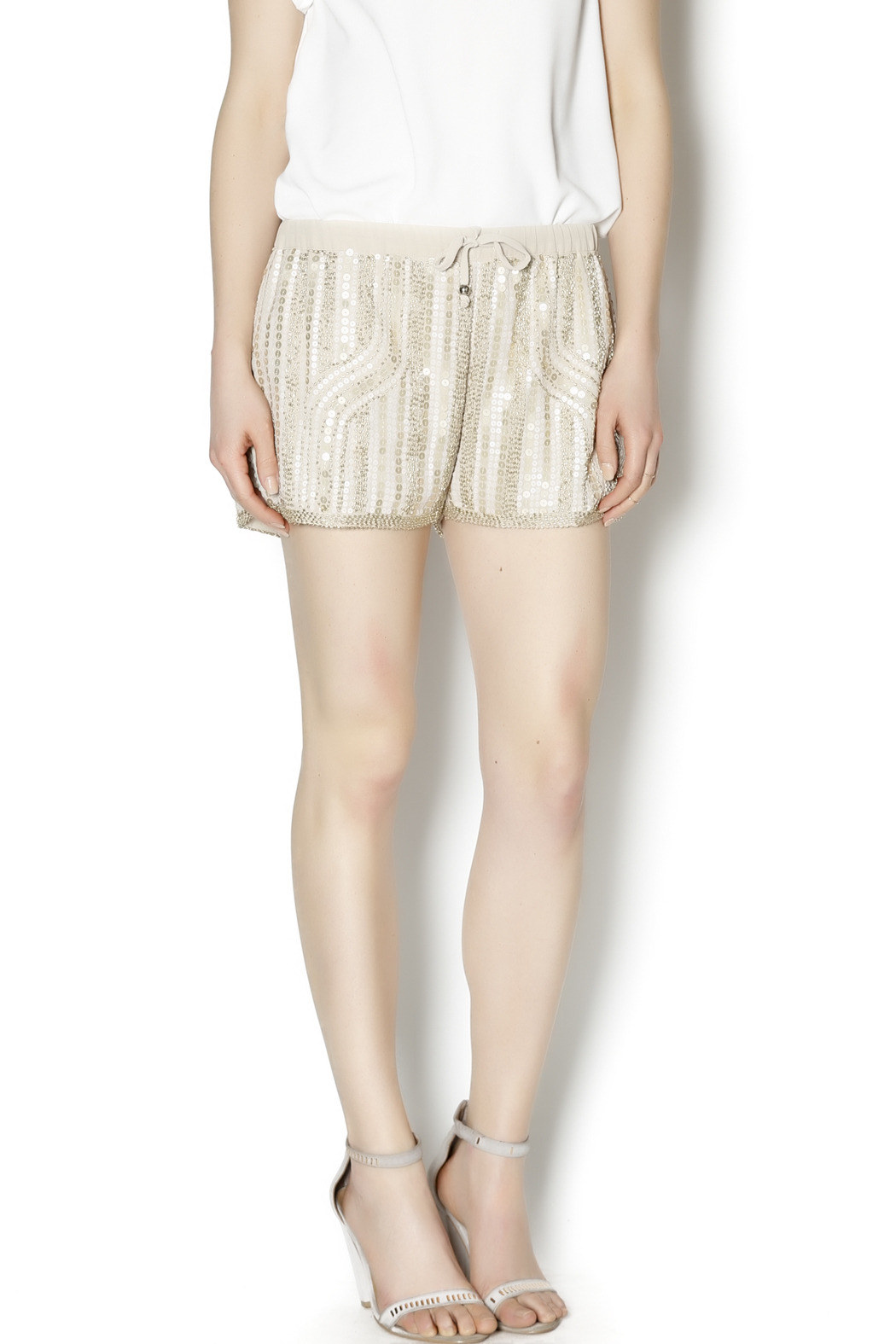 Wish Collection Sequin Track Shorts - Main Image
