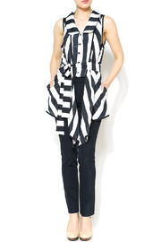 Nico LA Striped Belted Top - Front full body