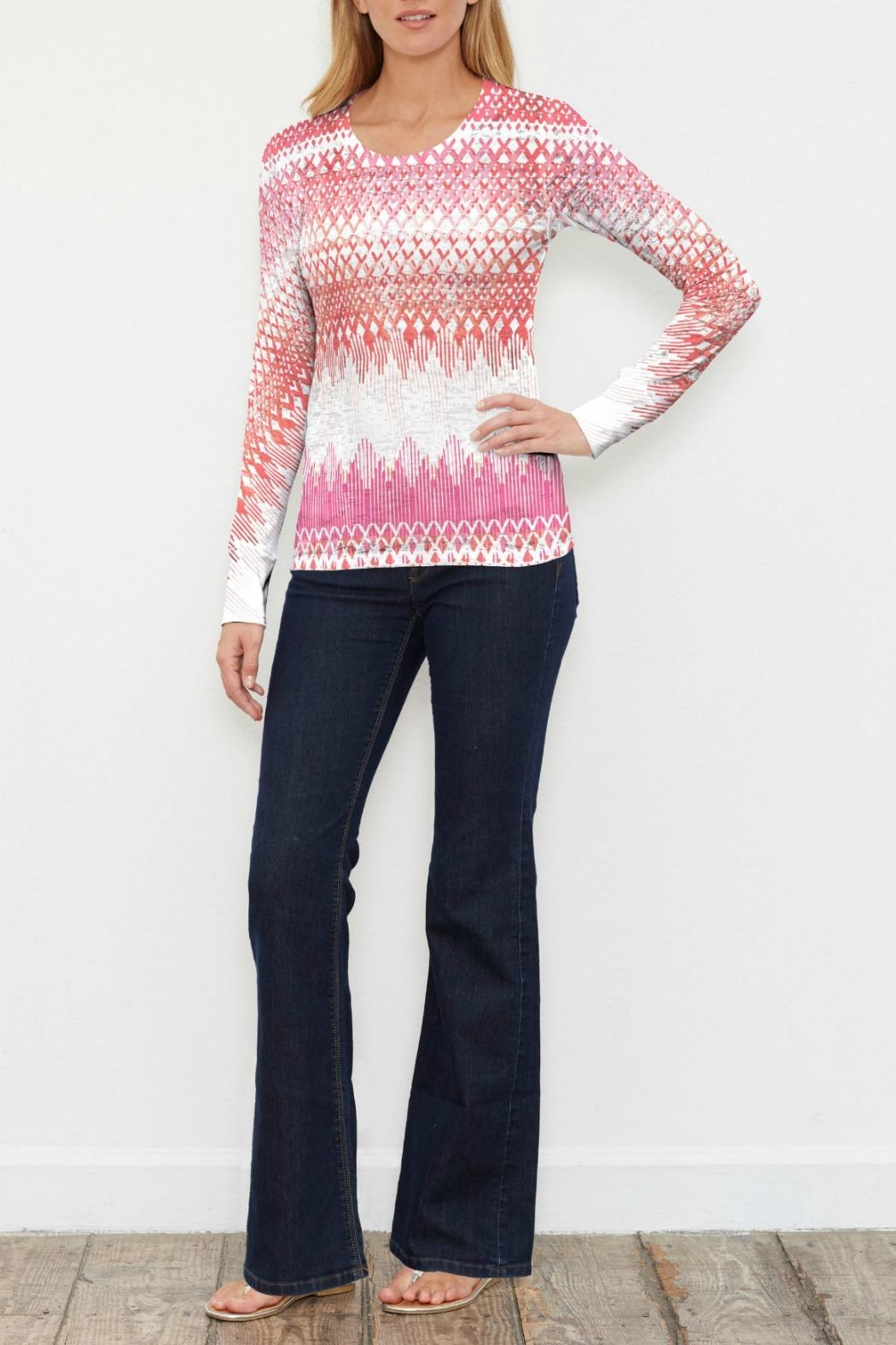 Whimsy Rose Echo Orange Thermal - Front Cropped Image
