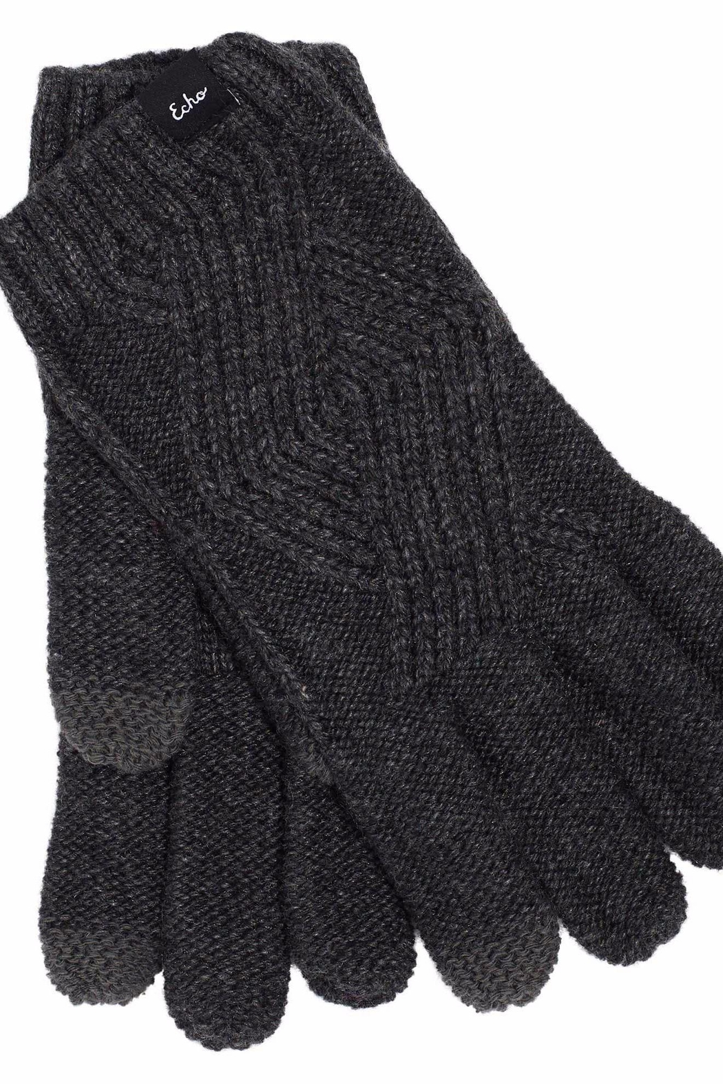 Echo Design Cable Knit Glove - Front Cropped Image