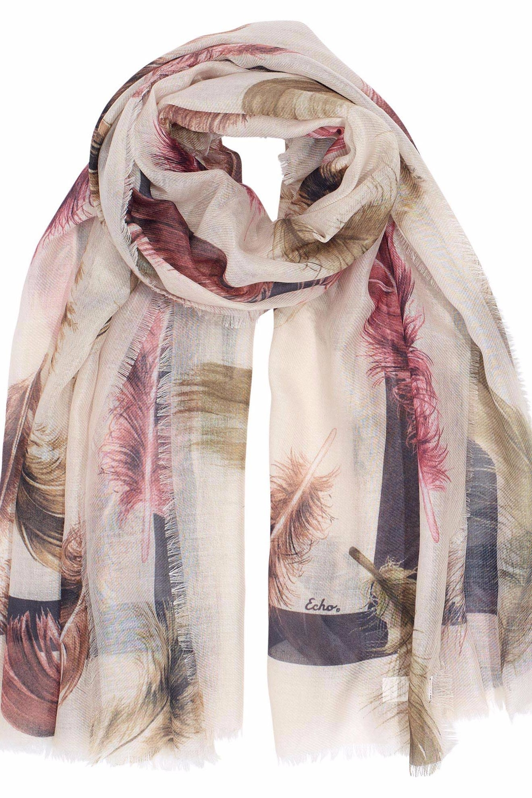 Echo Design Falling Feather Wrap-Scarf - Main Image