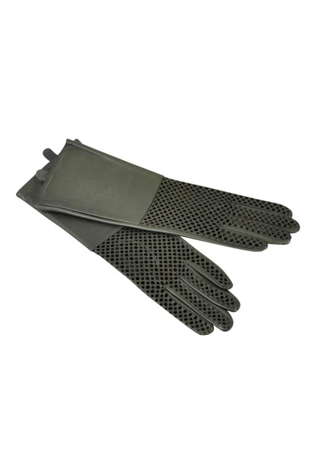 Echo Design Pewter Leather Gloves - Main Image
