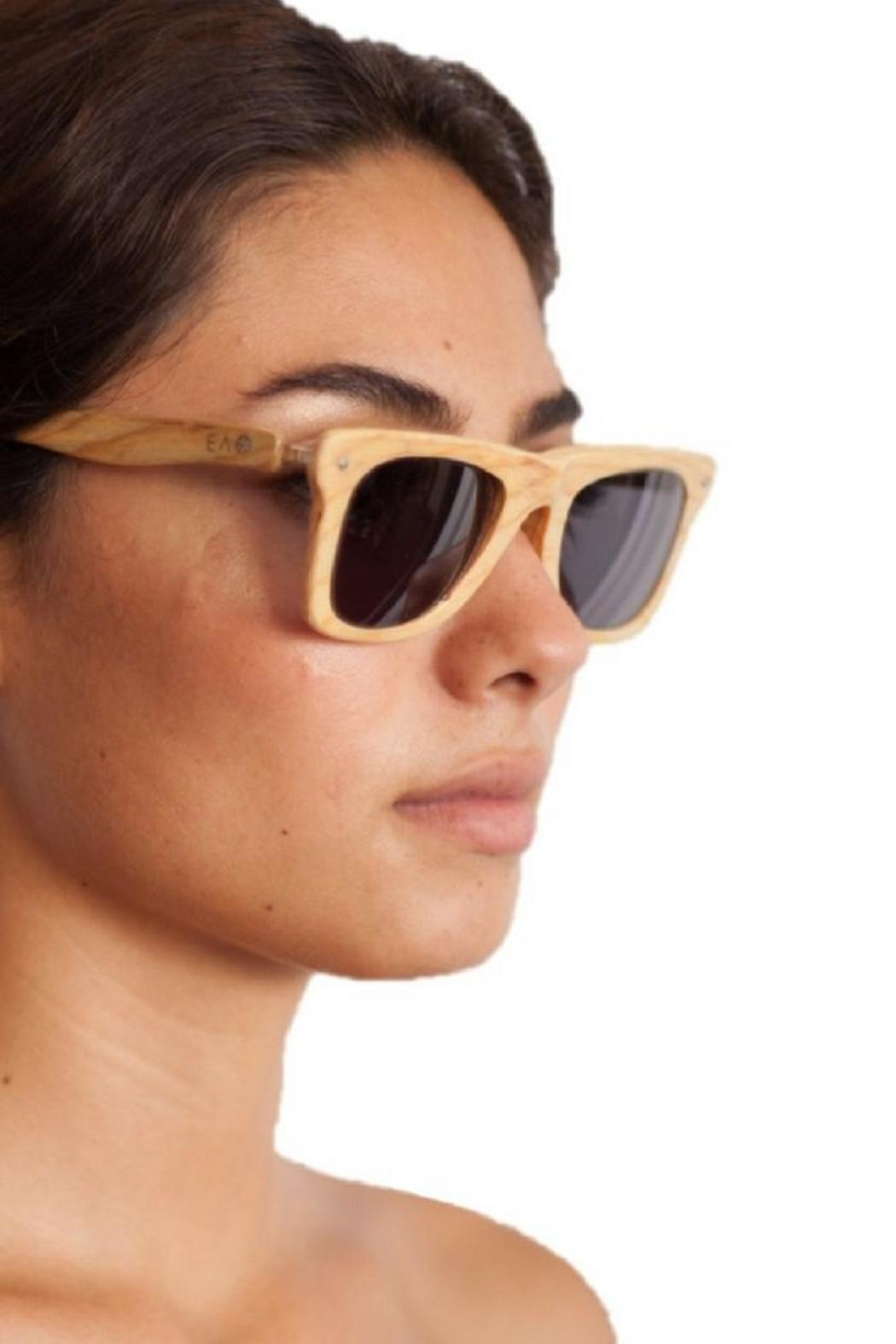 Eclectic Array Bleached Wood Sunglasses - Front Full Image