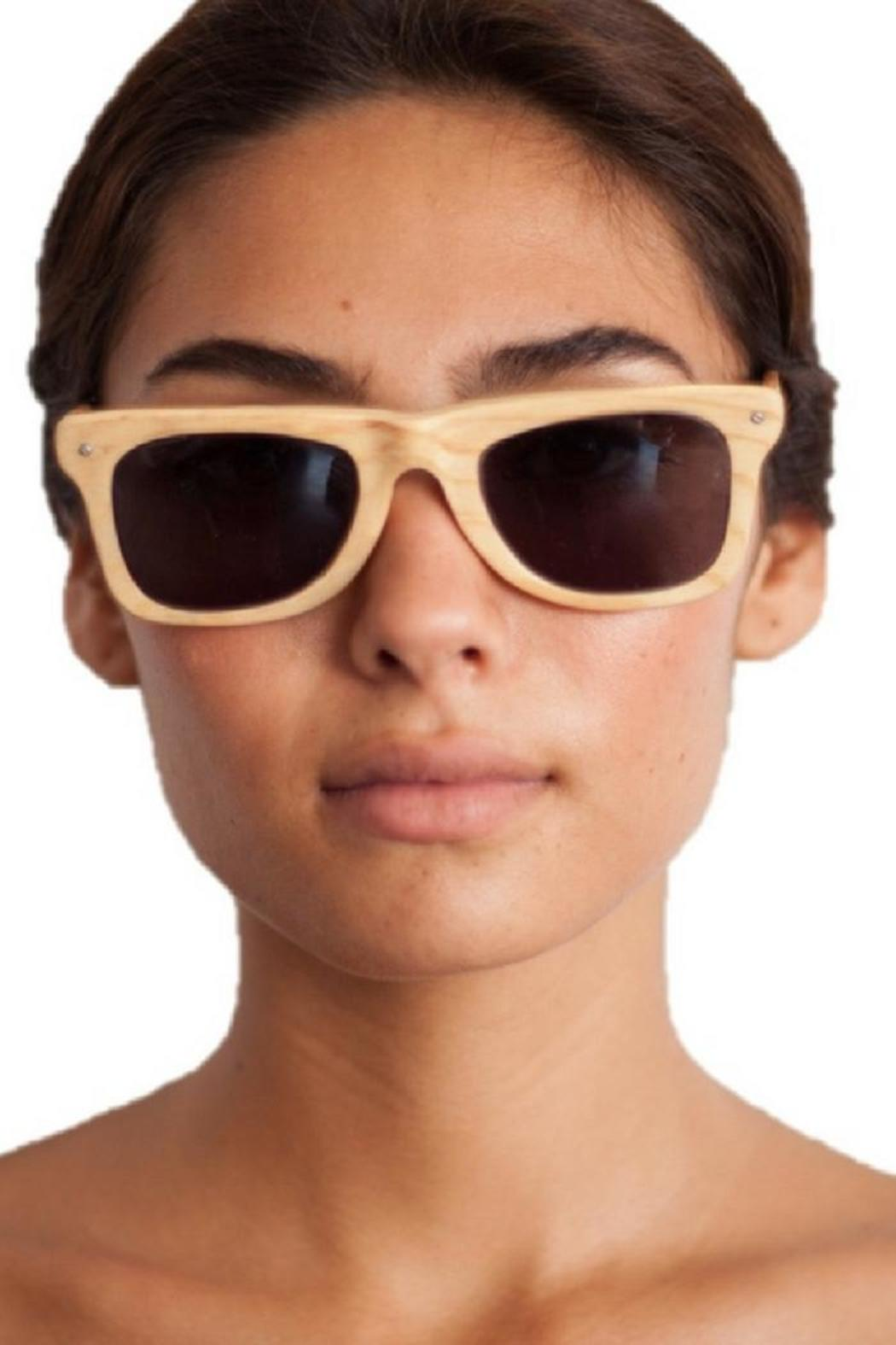 Eclectic Array Bleached Wood Sunglasses - Main Image