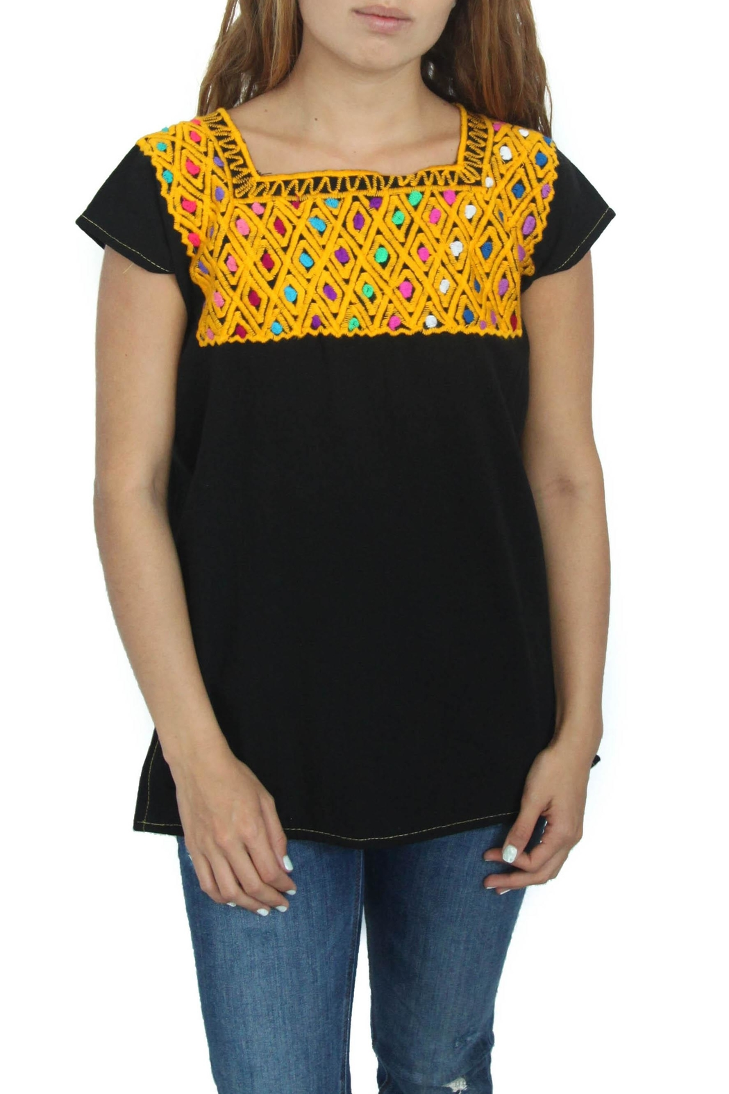 Eclectic Array Blusa Rombo  Top - Main Image