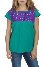 Eclectic Array Blusa Rombo  Top - Front cropped
