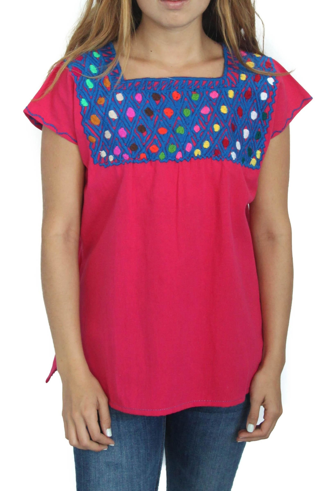 Eclectic Array Blusa Rombo  Top - Front Cropped Image