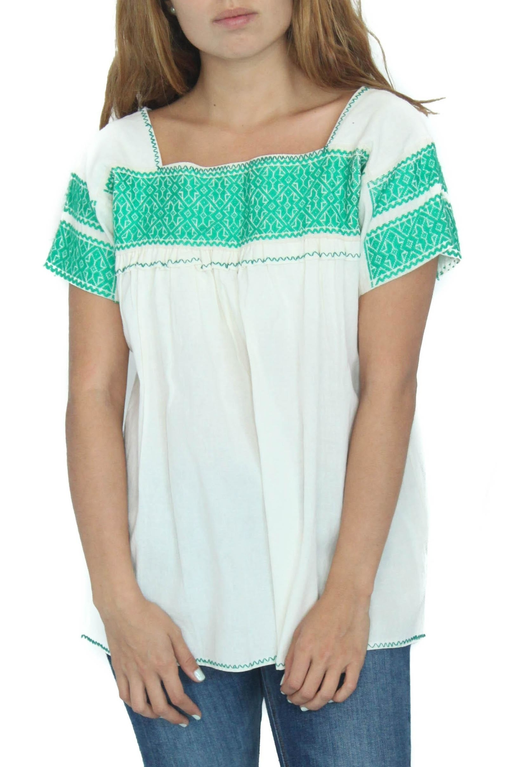 Eclectic Array Blusa Verde Top - Main Image