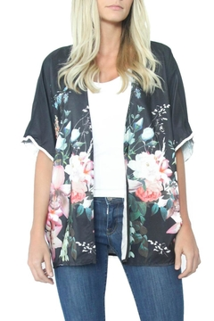 Eclectic Array Flower Belted Kimono - Product List Image