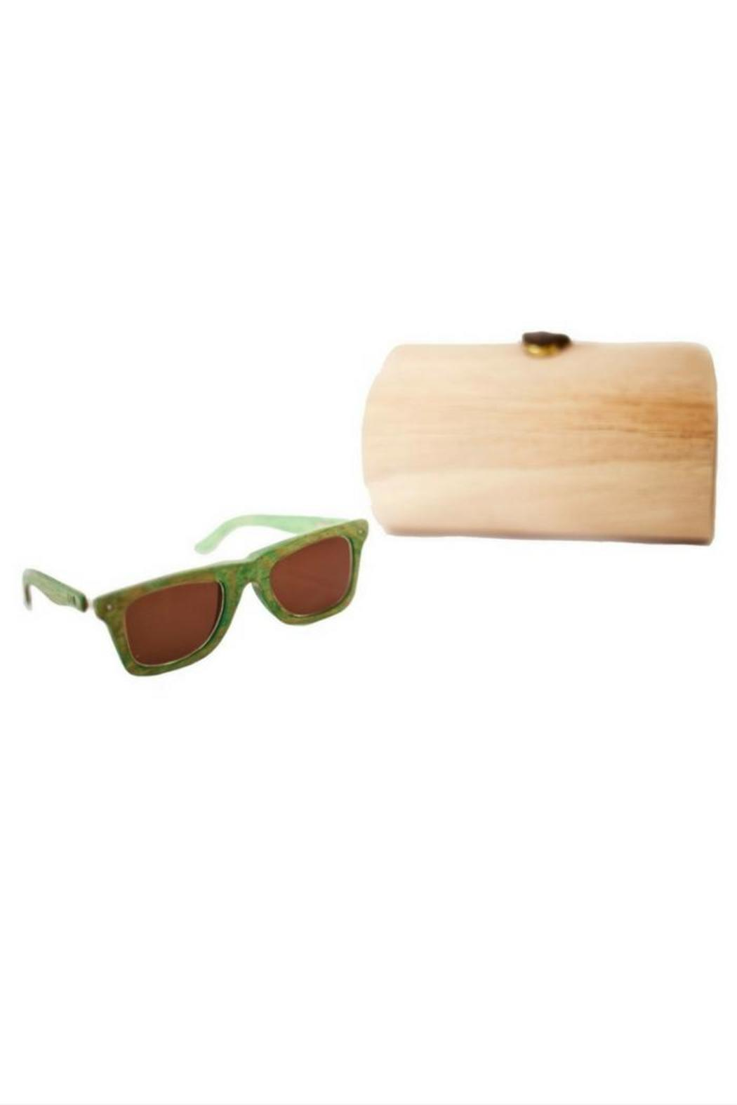 Eclectic Array Green Wood Sunglasses - Main Image