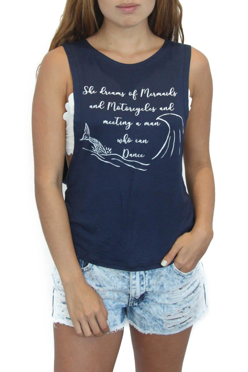 Eclectic Array Mermaid Tank Top - Front Cropped Image