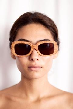 Eclectic Array Oversized Wood Sunglasses - Product List Image
