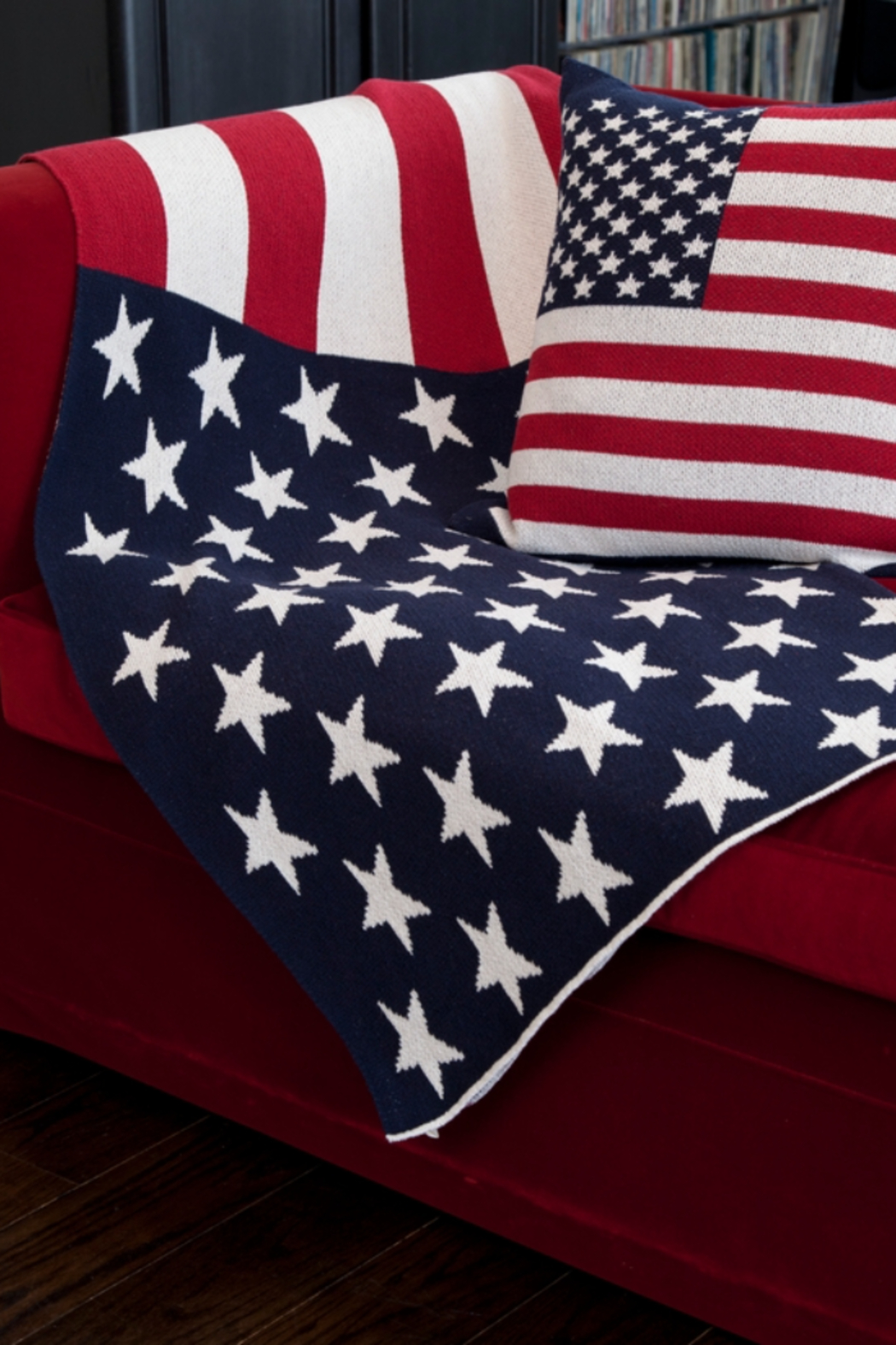 In2Green Eco American Flag Pillow - Front Full Image