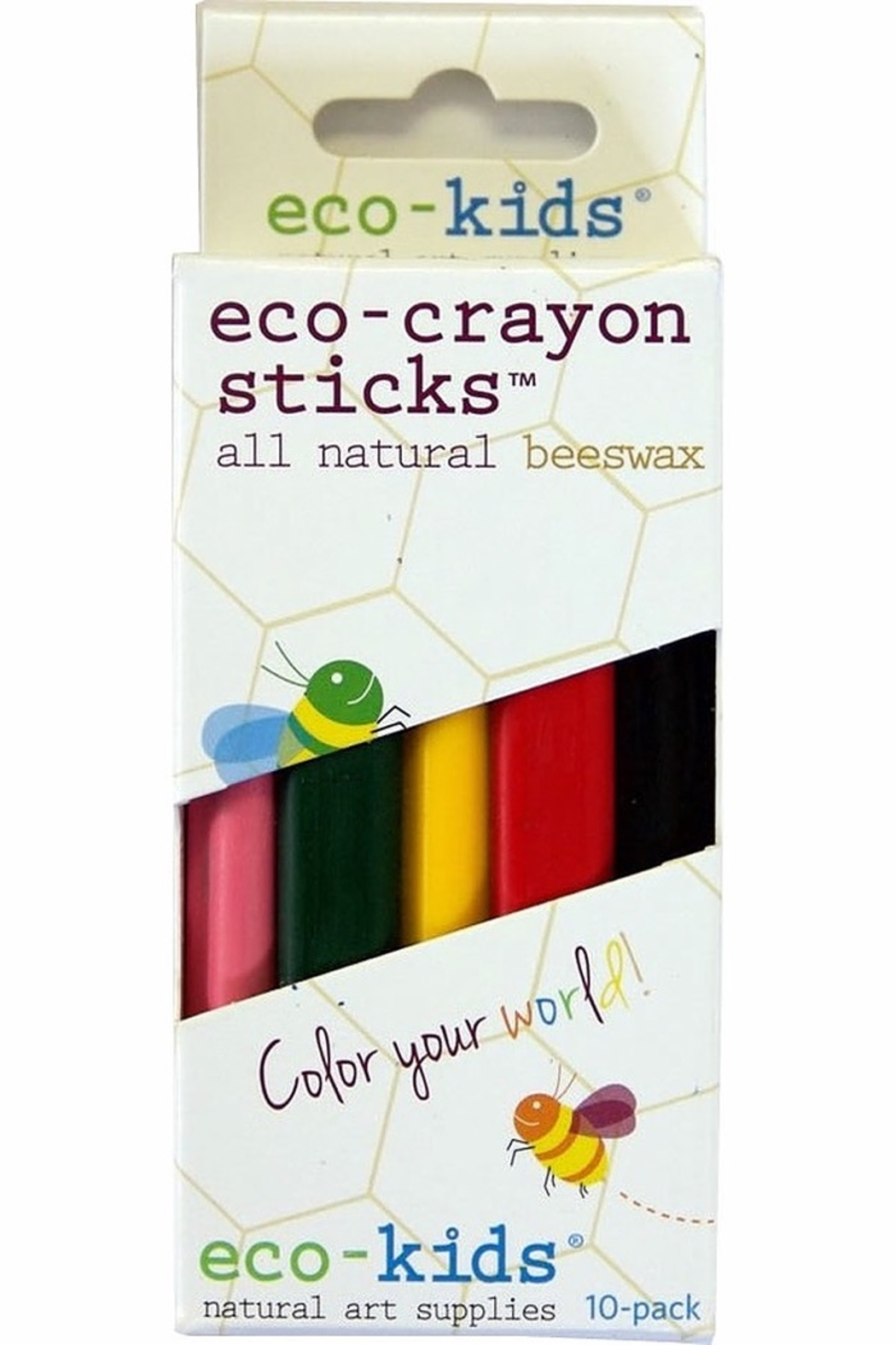 American Eco Baby Eco-Crayons Sticks 10pk - Front Full Image