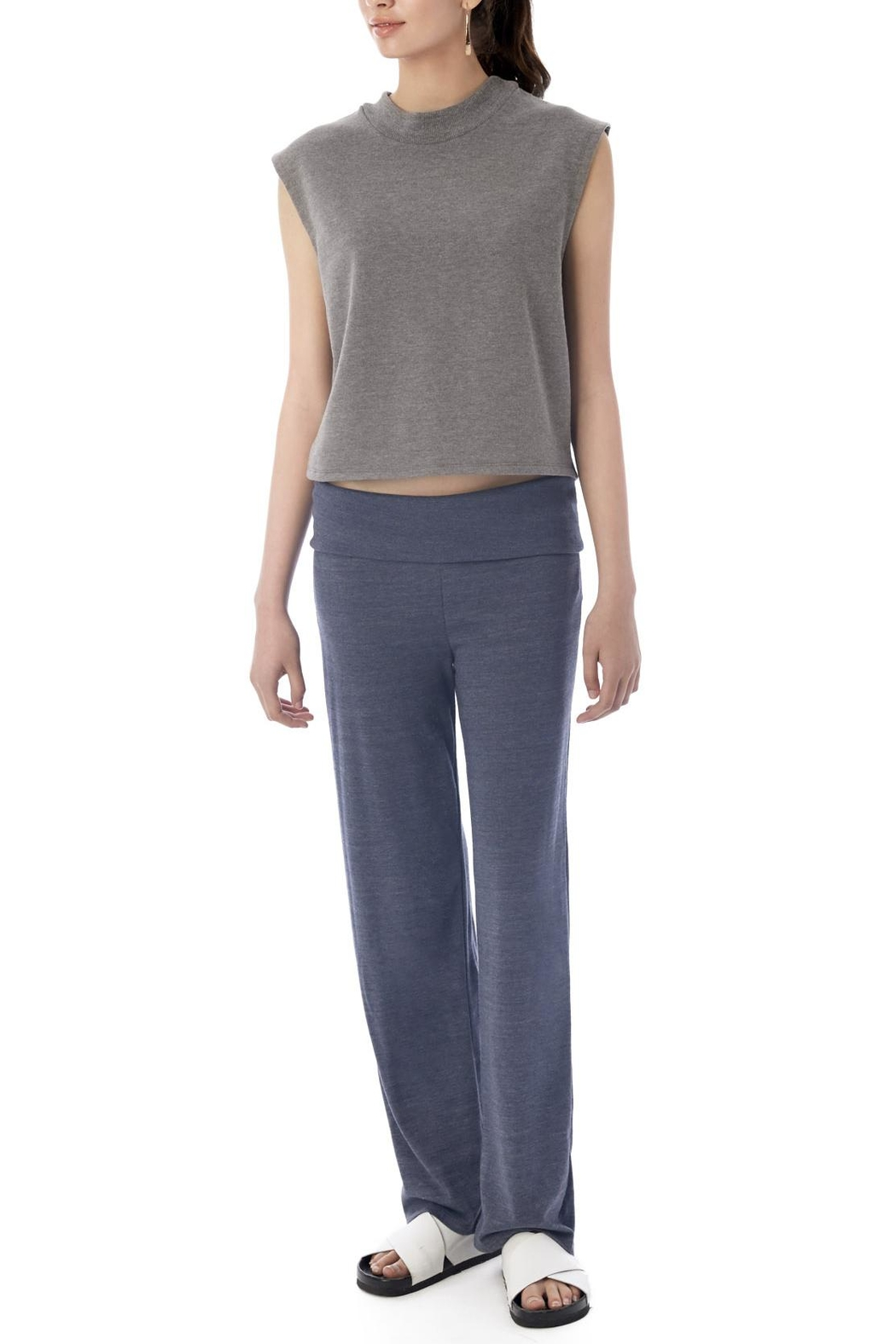 Alternative Apparel Eco-Jersey Foldover Pants - Front Cropped Image