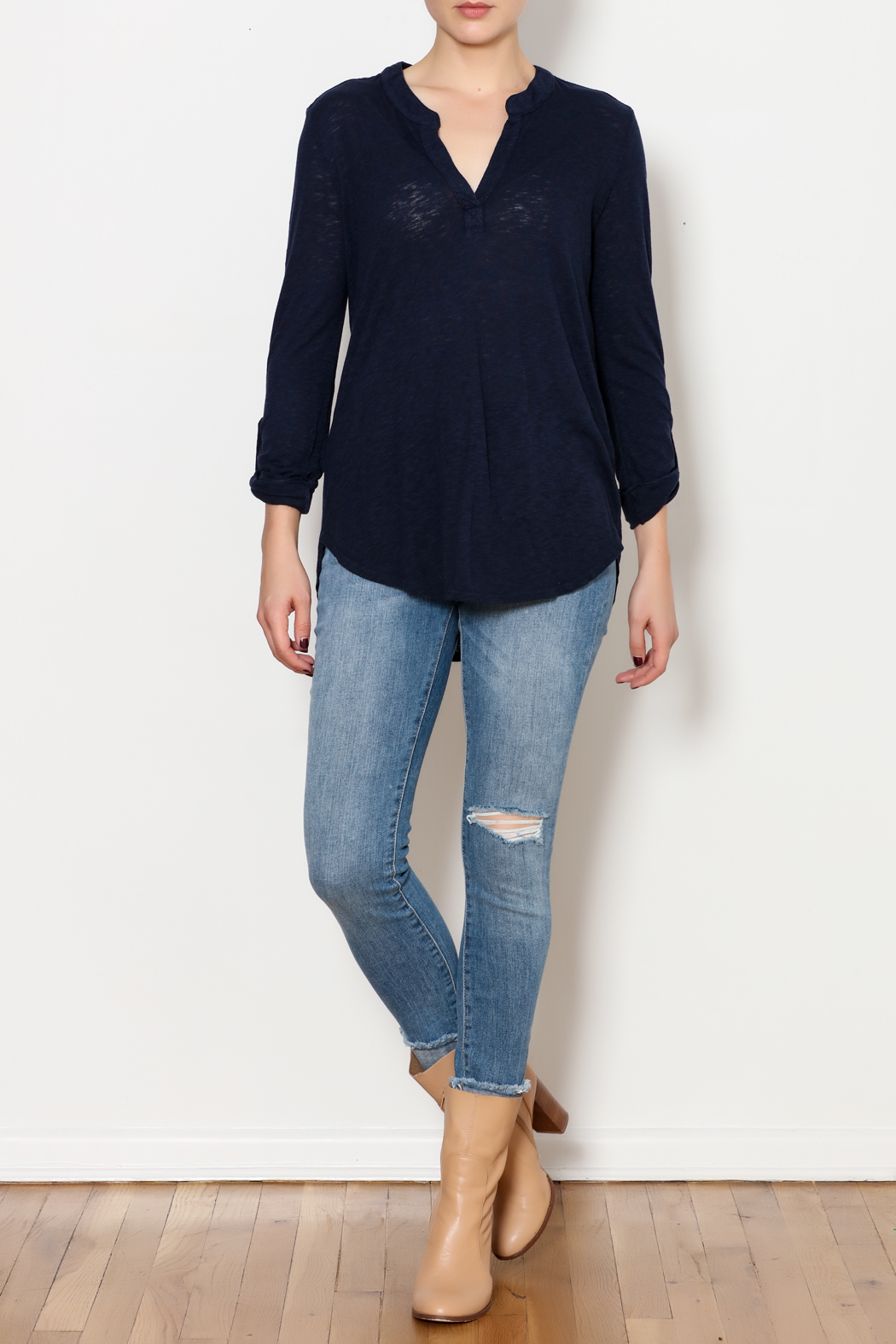 Three Dots Eco Knit Shirt - Side Cropped Image