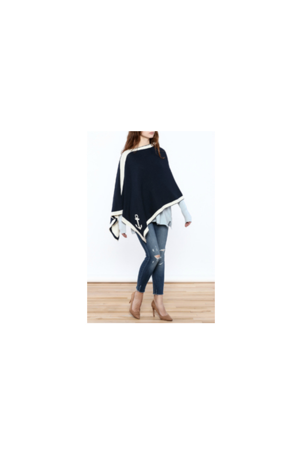 In2Green Eco Nautical Poncho - Side Cropped Image