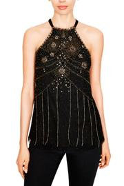 Ecru Beaded Halter Top - Product Mini Image