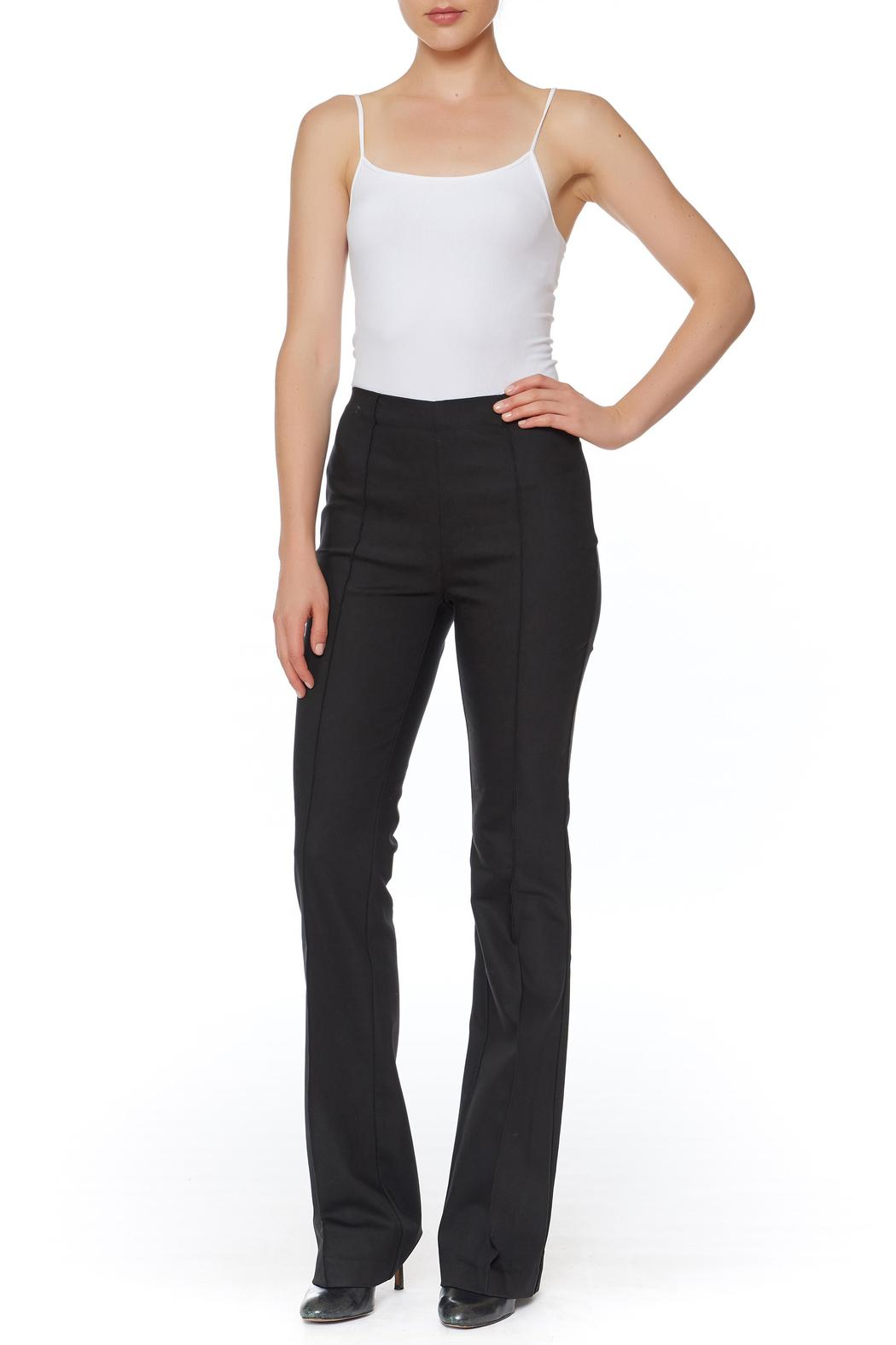 Ecru Bowie Bootcut Pant - Front Cropped Image